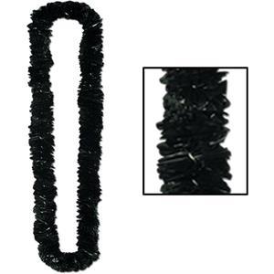 Soft-Twist Poly Leis - Black KB553