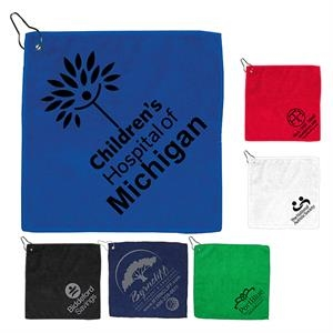 300GSM Microfiber Golf Towel with Metal Grommet and Clip