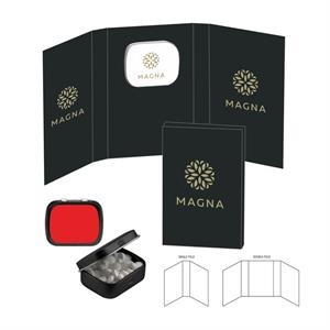 Promotional Custom Booklet with Mini Hinged Mint Tin