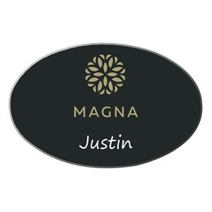 Full-Color Oval-shaped Name Badge