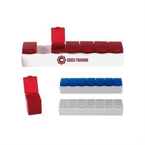 Week-Long Compact Individual Compartment Pill Box