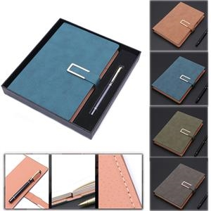 A5 Classic Journal Leather Writing Notebook with Pen/ Gift