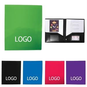 2 Folders With Business Cards Slot