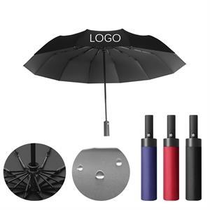 "42"" Automatic Telescopic Foldable Vented Umbrella"