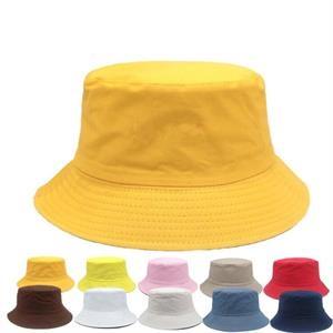 Cotton flat-top bucket fishing hat