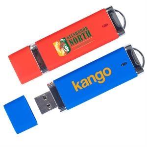 Quick Ship - Plastic USB Flash Drive w/ Cap USA printed
