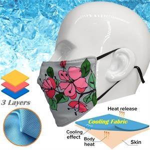 Cooling Face Mask Adjustable 3 Layer Mask for Summer