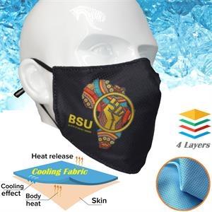 Summer Time 4-Layer Custom Face Mask w/ Adjustable Ear Loop