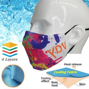 Kids Icy-Kool Summer Relief Cooling Face Masks 4 Layer Mask