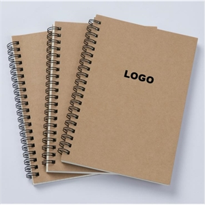 Soft Cover Spiral Notebook Brown Kraft Paper Cover Small Spi