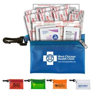 Troutdale Plus - 14 Piece First Aid Kit in Zipper Pouch