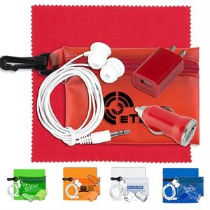 Mobile Tech Auto and Home Accessory Kit in Carabiner Pouch