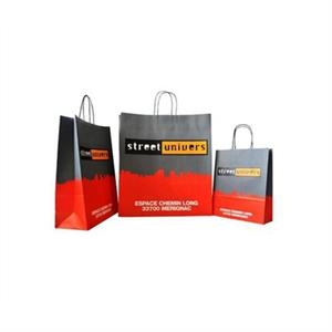 150g Card Paper Bag With Full Color Imprint On All Sides.