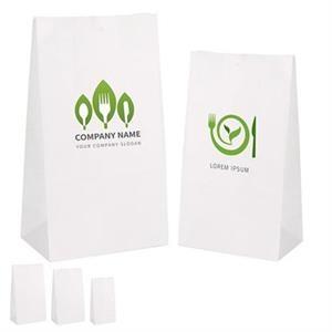White Kraft Paper Bag.