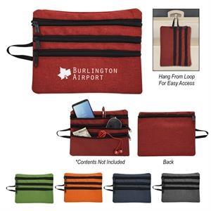 Heathered Tech Accessory Travel Bag