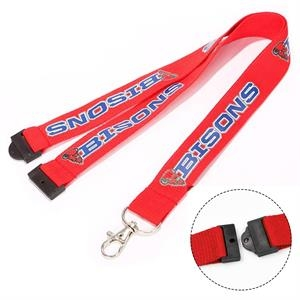 Safety Breakaway Lanyards, screen printed id Badge holder