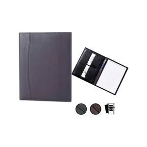 "Leather Pocket Padfolio With 8.5"" X 11"" Writing Tablet And Full Length Pocket"