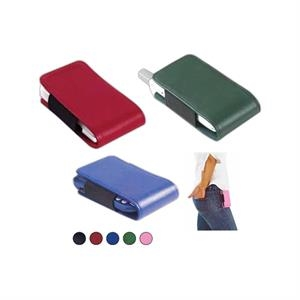 Leather Accessory Holder For Cell Phones, Pdas, Mp3 Players And Digital Cameras