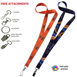 Polyester Full Color Sublimated Lanyard ID Badge Holder