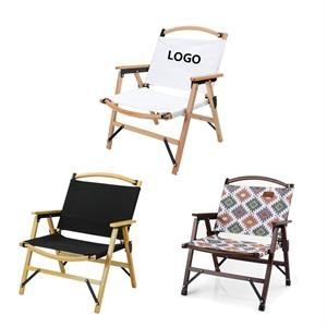 Outdoor picnic folding beach wood chair