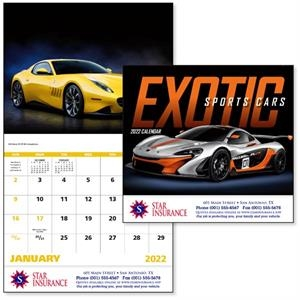 Stapled Exotic Sports Cars Vehicle 2022 Appointment Calendar