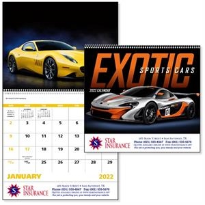 Spiral Exotic Sports Cars Vehicle 2022 Appointment Calendar