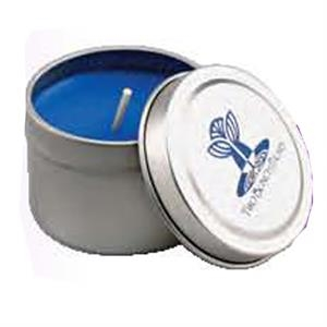 "Wax Candle In 2"" Diameter X 1 1/2"" Tin"