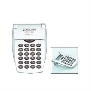 Robotic Flip Calculator, Silver With Clear Accents. 2-day