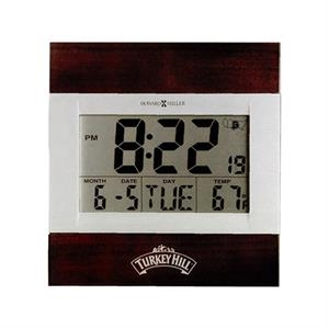 Techtime Iii - Two-tone Satin Silver Lcd Display Alarm Clock
