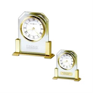 Paramount - Polished Solid Brass-finished And Beveled Glass Alarm Clock