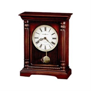 Langeland - Bracket-style Mantel Clock Features Lightly Distressed Cherry Finish On Hardwoo