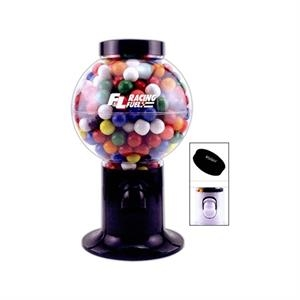 Large Capacity Snack Dispenser In Black Or White Filled With Candy Covered Chocolate