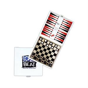 Magnetic 3-in-1 Game Set With Chess, Checkers, And Backgammon