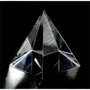 "2"" X 2"" X 2 1/4"" - Pyramid Shape Crystal Paperweight"