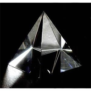 "2 3/8"" X 2 3/8"" X 2 3/4"" - Pyramid Shape Crystal Paperweight"