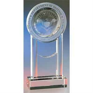 Medallion Crystal Tower Award On Base By Crystal World