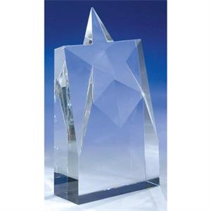 "Supernova - 4"" X 1 1/2"" X 7"" - Supernova 8-7/8"" Crystal Award By Crystal World"