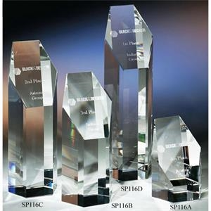 "President - 2 1/2"" X 2 1/8"" X 6 3/4"" - The ""prestige"" Crystal Hexagonal- Shaped Award By"
