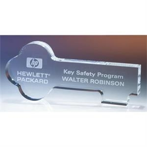 Key - Key Shaped Crystal Award By Crystal World