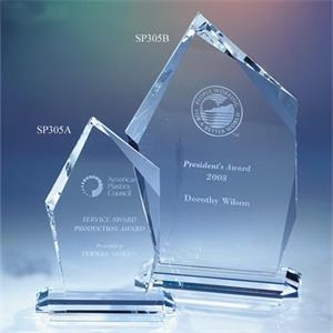 "Concord - 4 1/4"" X 1 7/8"" X 6"" - Concord Crystal Award By Crystal World. Sp305"