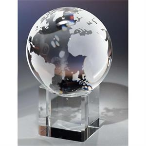 "3 1/8"" - Crystal Globe & Base By Crystal World"