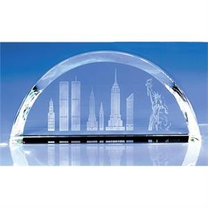 Horizon - Horizon Skyline Crystal Paperweight By Crystal World