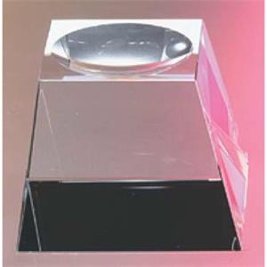 "2 1/2"" X 2 1/2"" X 1 3/4"" - Crystal Base For Ball Awards And Paperweights"