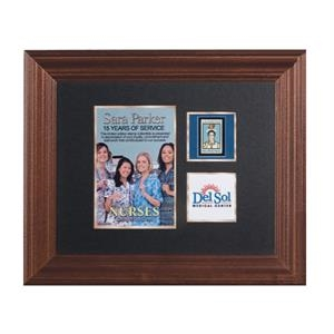 Limited Edition Collectible Plaque Award With Photo Or Illustration And Mint Stamp