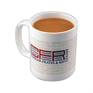 Classic - Ceramic Porcelain White 11 Oz. Mug With Handle Shaped In A C