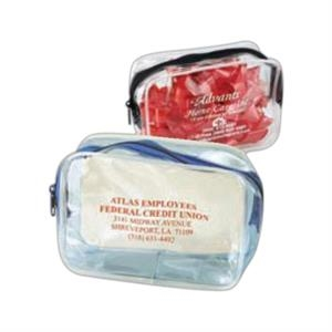 Cosmo Pack - Clear Cosmetic Bag With Colored Accent. 5-day Quick Ship
