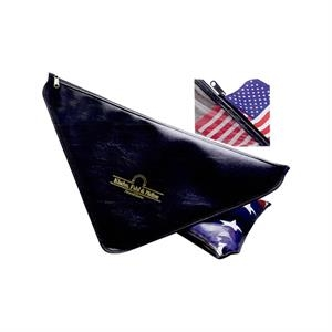 "Flag Case With Clear Vinyl Back, Triangle Shape, W 22"" X 17"" X 17"""