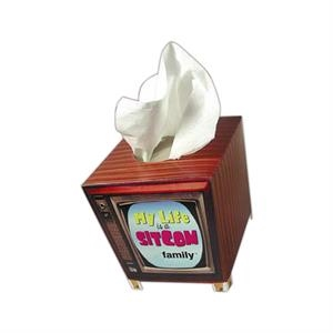 Sniftypak (tm) - Facial Tv Shape Tissue Box