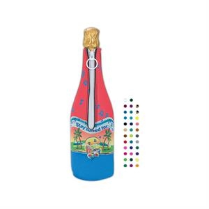 Bottle Suit (tm) - Four Color Process Wine Bottle Insulator With Glued-in Bottom