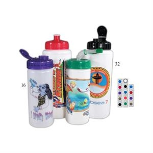 16 Oz - Sport Bottle With Direct Process Printing With Free Assembly